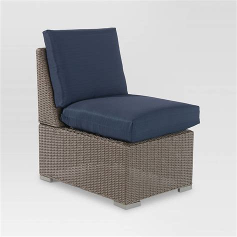 threshold heatherstone wicker patio furniture heatherstone wicker patio sectional armless chair