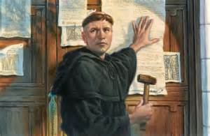 Image result for Martin Luther posted the 95 Theses