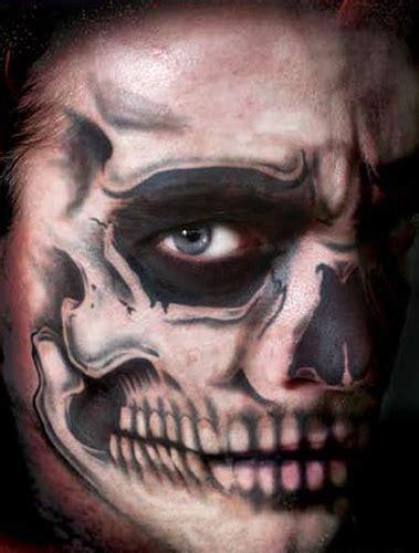 skull full face temporary tattoo kit