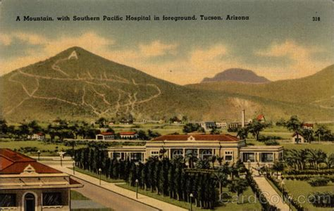 mountain  southern pacific hospital  foreground