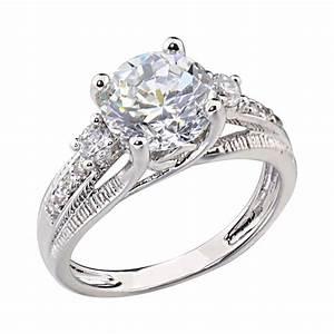 25 carats round shape cubic zirconia platinum tone With platinum cubic zirconia wedding rings