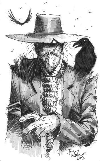 Scarecrow by Tony Moore | Batman art, Scarecrow drawing, Scarecrow tattoo