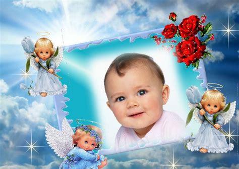 fotomontaje para beb 233 s con angelitos fotomontajes infantiles