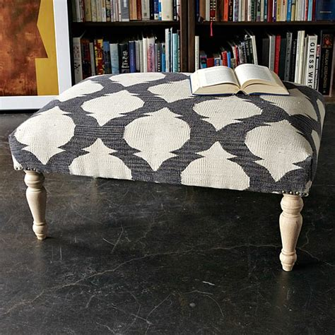 west elm ottoman decorating with patterned upholstered furniture