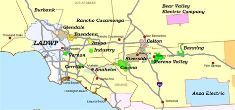 Service California by Socal Ev Utility Service Territories