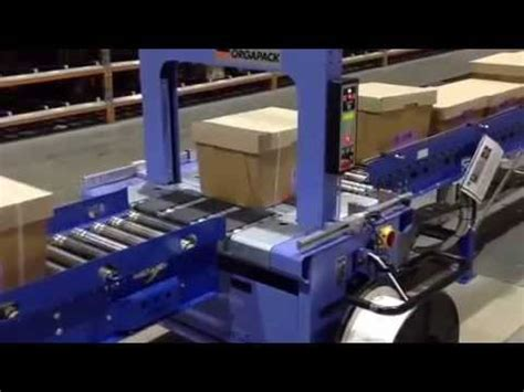 orgapack    fully automatic strapping machine installed  strap  wrap ips youtube