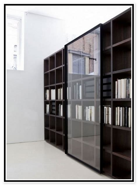 Black Bookshelf With Doors by White Bookcase With Glass Door For Elgant Interior With