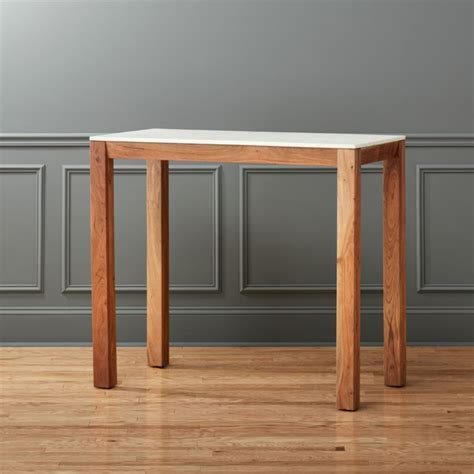 palate marble high dining table   CB2