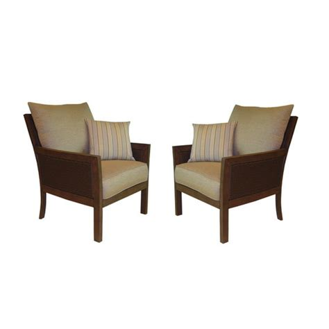 allen roth binkley patio wicker chairs oak aluminum side
