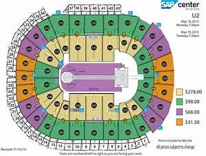 sap center u2 seating chart u2 ticket sales 101 12 4 14 and onward u2 feedback