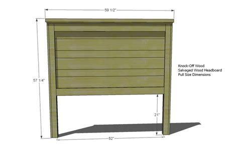 ana white build  build  reclaimed wood headboard full