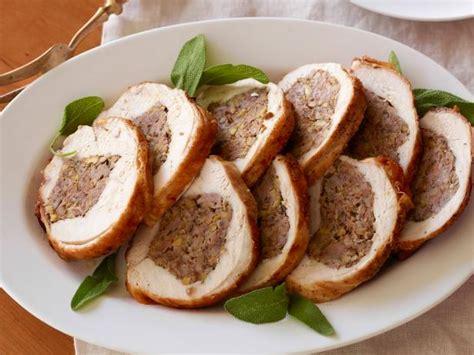 how to cook a stuffed turkey stuffed turkey breast recipe giada de laurentiis food network