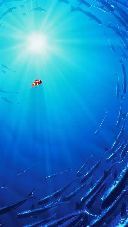 Disney Anime Sea Nemo Film Illustration Iphone