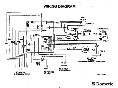 Dometic Analog Thermostat Wiring Diagram Mach Air