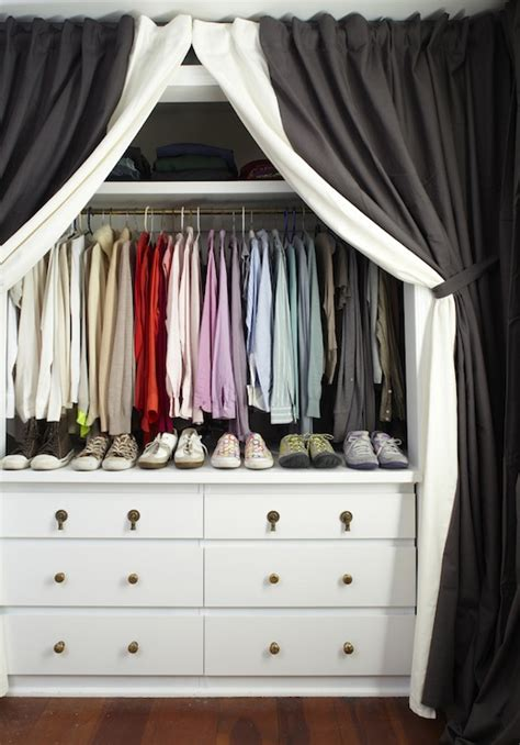 Organized Baby Closet by Curtains In Place Of Closet Doors Design Ideas