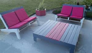 Palette En Bois Pas Cher : salon de jardin bois de palette collection et salon de ~ Dallasstarsshop.com Idées de Décoration