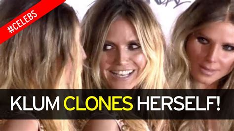 Heidi Klum Surrounds Herself With Five Real Life Clones