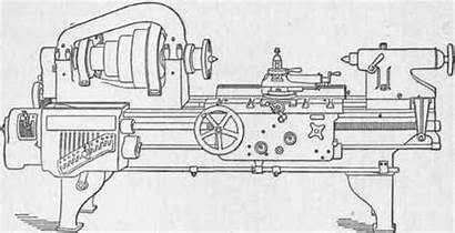 Lathe Engine Hendey Machine Drawing Built Line