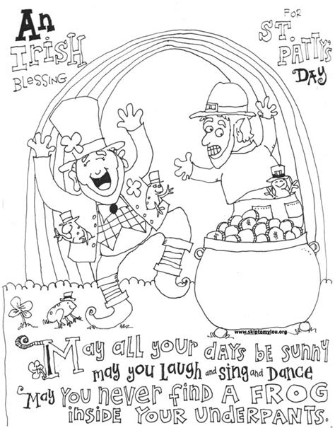 st patricks day coloring sheets st s day coloring pages skip to my lou