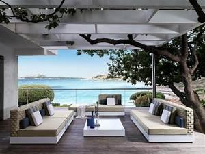 Salon Exterieur Design : am nagement ext rieur piscine avec du mobilier design ~ Teatrodelosmanantiales.com Idées de Décoration