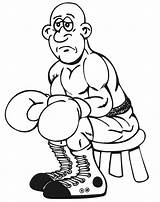 Coloring Pages Boxing Boxer Sad Sheets Rocky Clipart Olympic Colouring Face Cliparts Printable Books Gthe Ever Popular Clip Library sketch template