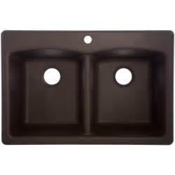 shop franke usa 22 in x 33 in mocha double basin granite