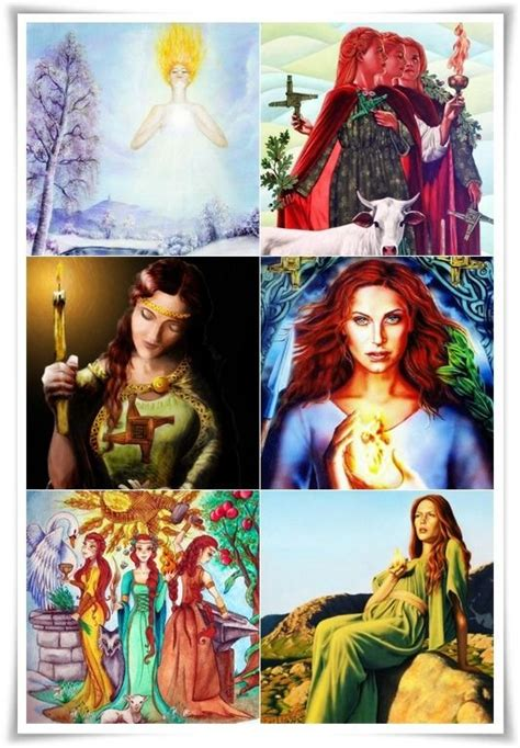 Brigid   Celtic goddess, St brigid, Triple goddess