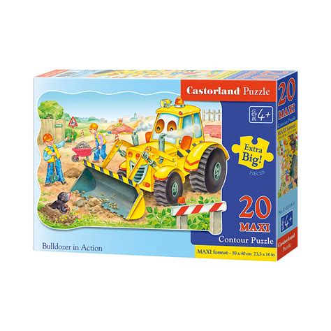 puzzle  teile kontur maxi bagger castorland mytoys