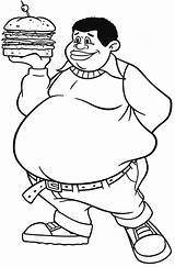 Fat Coloring Albert Boy Clipart Burger Drawing Person Hamburger Bring Template Clip Sketch Cosby Play Clipground Friends Carpenter Again Bar sketch template