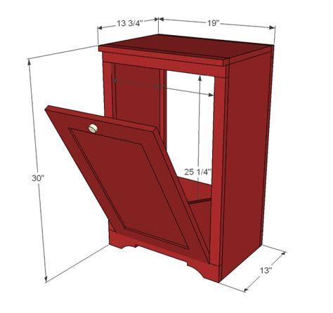 Wood Trash Cabinet by Diy Make Your Own Trash Can Holder