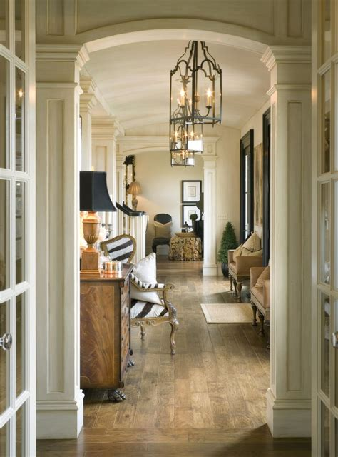 beautiful hallway  gorgeous moldings framing
