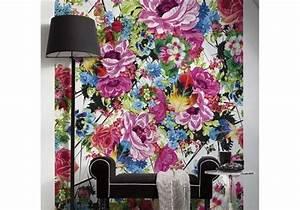 Papier Peint Fleuri : papier peint d cryptage des tendances hiver 2013 elle ~ Premium-room.com Idées de Décoration