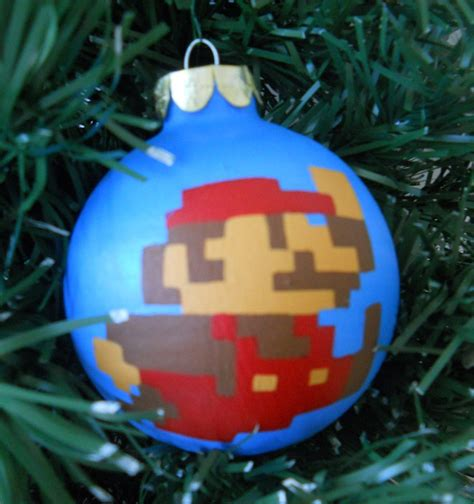 nintendo christmas ornaments merry mario technabob