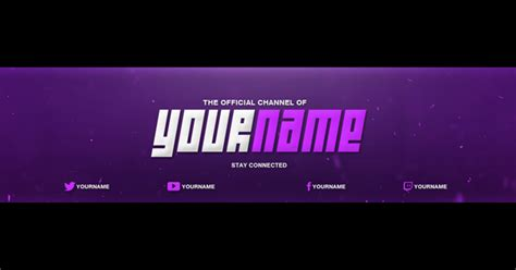 youtube bannercover template photoshop