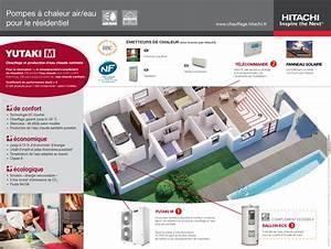 Prix Pompe à Chaleur Eau Eau : hitachi pompe chaleur yutaki m air eau ~ Premium-room.com Idées de Décoration