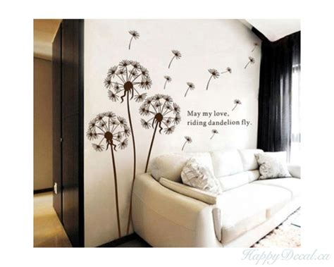 dandelion wall decal  quotes vinyl decals modern wall