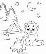 Coloring Pages Campfire Printable sketch template