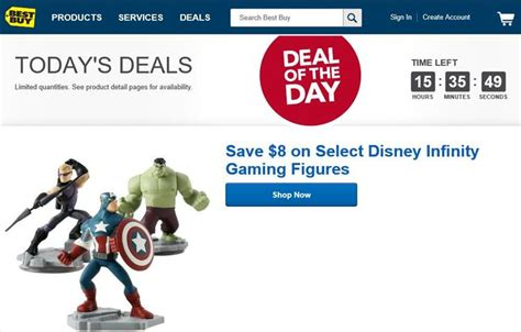 best buy deals of the day best buy has some disney infinity 2 0 characters 8 for