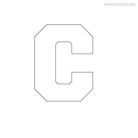 Block Letter Template Free by Print Free Stencil Letters C C Stencils