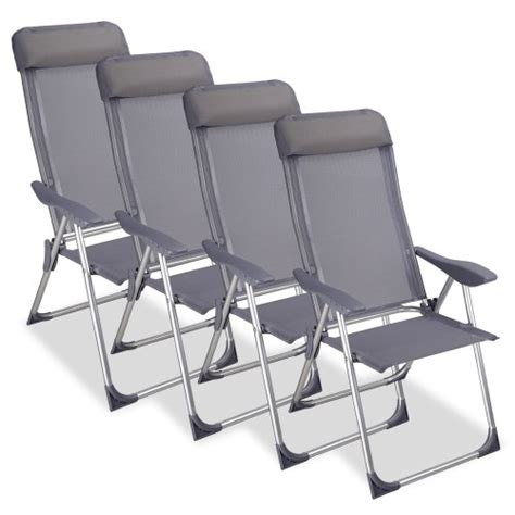 chaise exterieure chaise cing pliante avec coussin aluminium meuble