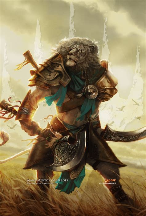 ajani mentor of heroes deck ideas wallpaper of the week ajani mentor of heroes magic