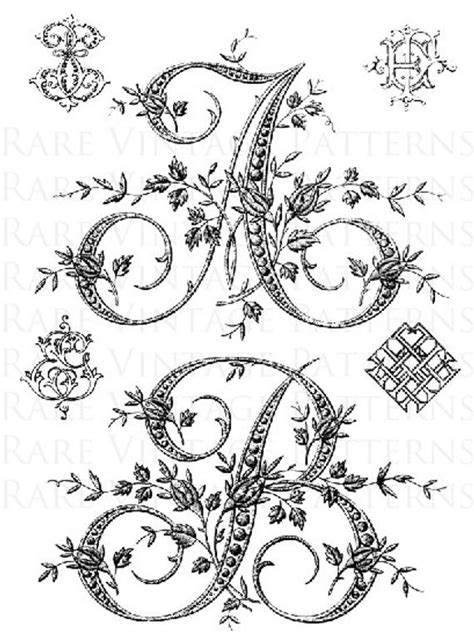 french alphabet letters stencil initials       files