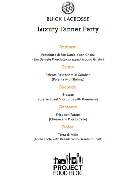 """Project Food Blog Challenge 3 """"luxury Dinner Party"""