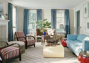 Vorhänge Braun Weiß : gardinen wohnzimmer wei mit blau und braunem muster ~ Sanjose-hotels-ca.com Haus und Dekorationen