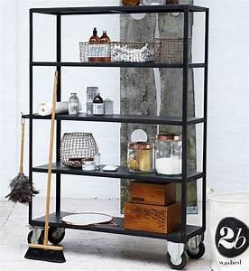House Doctor Aufbewahrung : regal von house doctor mit rollen schwarz br0152 house ~ Whattoseeinmadrid.com Haus und Dekorationen