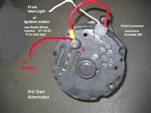 Restoring Chevy One Wire Alternator Diagram