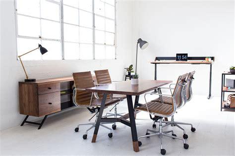 home design decor harkavy furniture creates modern walnut steel office