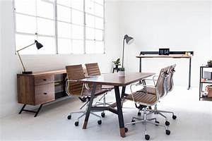 Harkavy Furniture Creates Modern Walnut & Steel Office