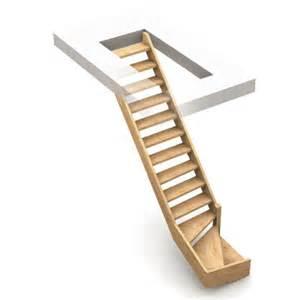 Escalier De Grenier Castorama by Escalier 1 4 Tournant Droit Normandie Sapin Castorama