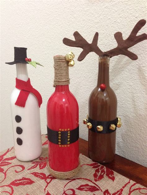 diy wine bottle and wine glass holiday decorations home